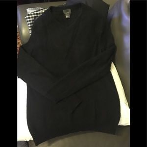 H&M Premium 100% Cashmere Sweater Black V Neck M